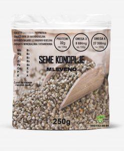 Mleveno organsko seme konoplje