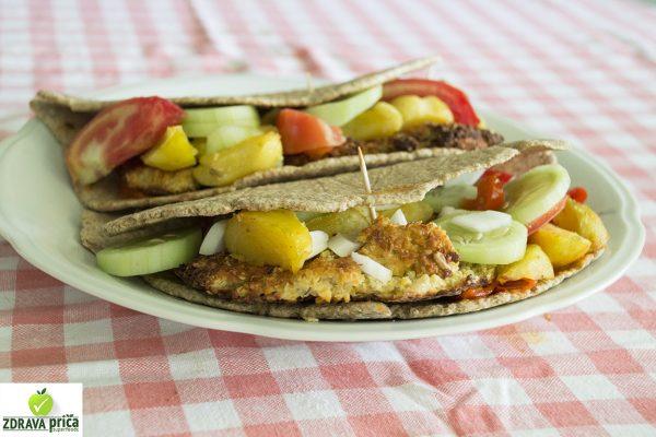 Veganske pljeskavice u tortilji