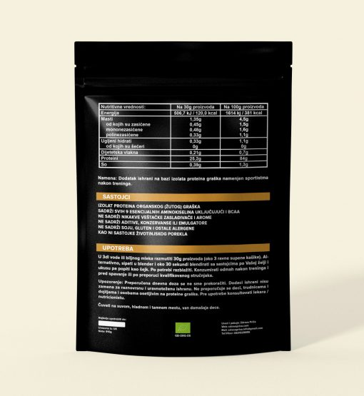 Grašak protein_nutritivne